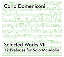 CD Selected Works VII: 12 Preludes for Solo Mandolin